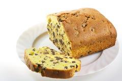 Торт сливы с шоколадом Стоковые Изображения