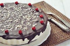 Торт суфла с замороженностью шоколада стоковые фото