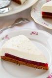 Торт суфла с студнем ягоды и печеньем шоколада стоковые фото