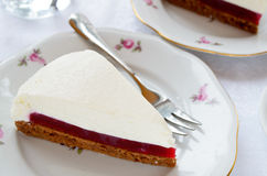 Торт суфла с студнем ягоды и печеньем шоколада стоковое фото rf