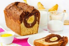 Торт с бананом Стоковые Изображения RF