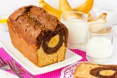Торт с бананом Стоковое Фото