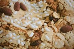 Торт с высушенными плодоовощами и гайкой миндалины Стоковое Изображение