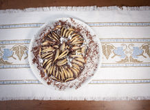 Торт с грушей и шоколадом Стоковая Фотография