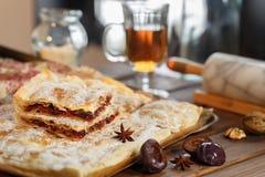 Торт сливы печенья слойки Стоковые Изображения RF
