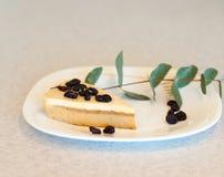 Торт с изюминками на плите Стоковые Изображения
