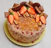 Торт с клубниками стоковое фото