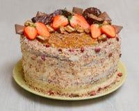 Торт с клубниками стоковая фотография rf
