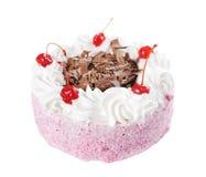 Торт с обломоками вишни и шоколада Стоковая Фотография RF