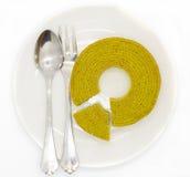 Торт слоев зеленого чая Стоковые Фото