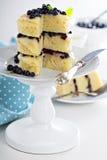 Торт слоя голубики лимона Стоковое Изображение