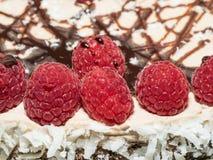 Торт слоя Framboise шоколада Стоковое Изображение