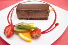 Торт с плодоовощ на плите Стоковое Изображение