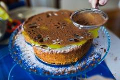 Торт с порошком сахара Стоковое фото RF