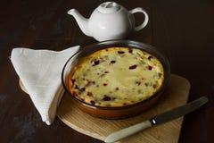 Торт с сыром коттеджа Стоковое Изображение RF