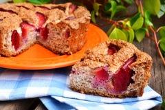 Торт с сливами Стоковое Фото