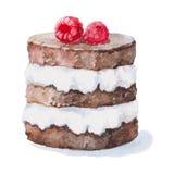 Торт с ягодами иллюстрация вектора