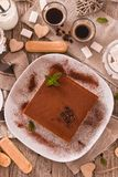 Торт тирамису стоковые изображения
