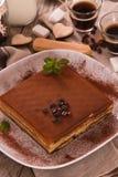 Торт тирамису стоковые изображения rf