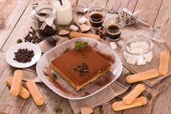 Торт тирамису стоковое изображение