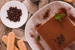 Торт тирамису стоковое фото rf