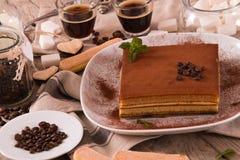 Торт тирамису стоковые фотографии rf