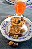 Торт традиции: куски торта сладостного каштана Стоковые Изображения