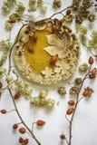 Торт тыквы украшенный при диаграммы сделанные из теста для того чтобы упасть стиль Стоковое Изображение