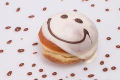 Торт улыбки (донут). Стоковое Изображение RF