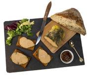 Торт фуа-гра и пряника стоковое изображение