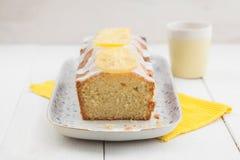 Торт фунта лимона стоковое изображение
