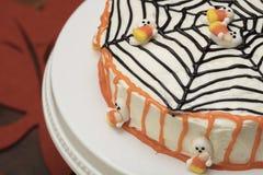 Торт хеллоуина с веб-дизайном Стоковые Фотографии RF