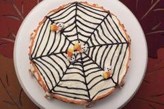 Торт хеллоуина с веб-дизайном Стоковые Фото