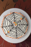 Торт хеллоуина с веб-дизайном Стоковые Изображения