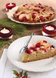 Торт чая клюквы Яблока Стоковое Изображение RF