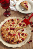 Торт чая клюквы Яблока Стоковая Фотография RF