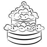 Торт шаржа. eps10 Стоковая Фотография