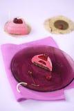 Торт швейцарского крена Deco стоковые фотографии rf