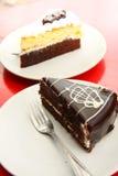 Торт шоколада, сладостный десерт. Стоковое фото RF