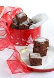 Торт шоколада с клюквой Стоковые Фото
