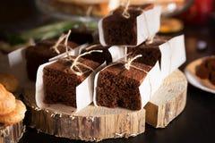 Торт шоколада вкусный очень вкусный помадка хлебопекарни Ресторан Стоковые Фото