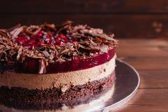 Торт шоколада и вишни Стоковые Фотографии RF