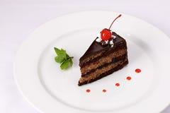 Торт шоколада с вишнями Стоковая Фотография RF