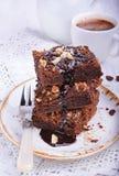 Торт шоколада с гайками Стоковая Фотография RF
