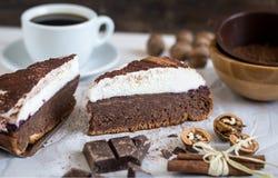 Торт шоколада с сливк Стоковая Фотография RF