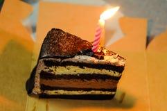 торт шоколада bithday Стоковая Фотография
