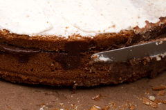 Торт, шоколад и сахар Стоковая Фотография