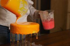 Торт югурта мусса варить стоковая фотография