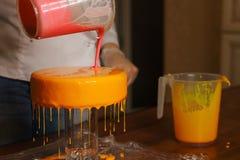Торт югурта мусса варить стоковое изображение