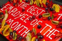 Торт для самого лучшего работника месяца Стоковые Изображения